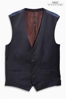 Signature Italian Wool Sharkskin Waistcoat