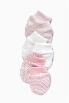 Pink Scratch Mitts Three Pack