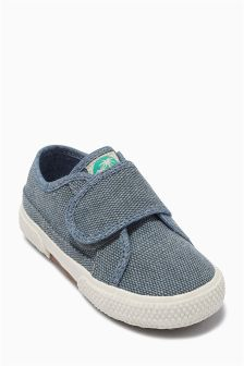 Canvas One Strap Shoes (Younger Boys)