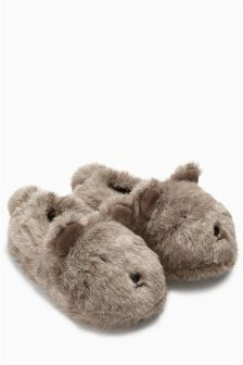 Brown Bear Character Slippers