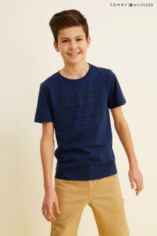 Tommy Hilfiger Blue Ame Logo T-Shirt