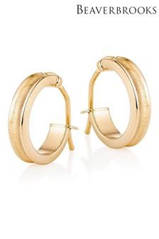 Beaverbrooks 9ct Gold Hoop Earrings