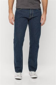 Mens Straight Fit Jeans | Stretch & Belted Straight Jeans | Next