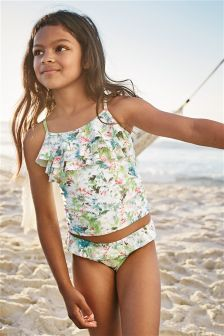 Multi Ruffle Top Tankini (3-16yrs)