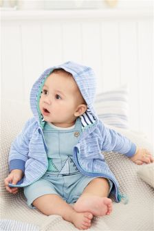 Blue Light Wash Boat Dungarees (0mths-2yrs)
