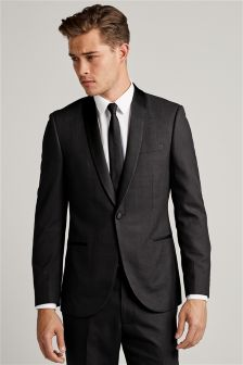 Check Tuxedo Slim Fit Suit