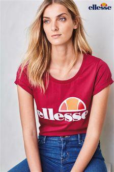 Red Ellesse® Logo T-Shirt