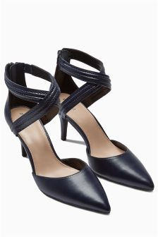 Two Part Cross Strap Point Shoes