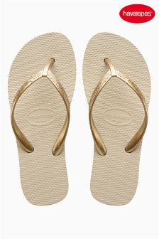 Cream Havaianas® Low Wedge Flip Flop
