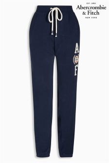 Abercrombie & Fitch Blue Logo Jogger