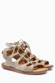 Mink Gladiator Sandals