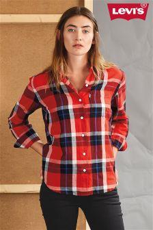 Levi's® Cimbasso Flame Scarlet Plaid Sydney Boyfriend Shirt
