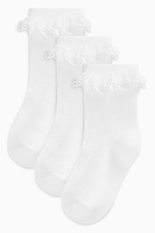 Lace Socks Three Pack (Younger Girls)
