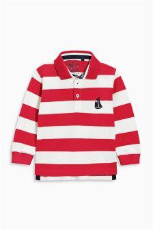 Breton Stripe Long Sleeve Polo (3mths-6yrs)