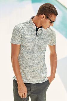Textured Poloshirt