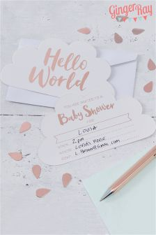 10 Pack Ginger Ray Baby Shower Invites