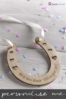 Personalised Wedding Horse Shoe By Loveabode