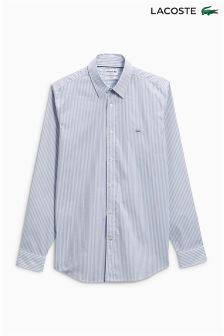 Lacoste® Grey/White Fine Stripe Shirt