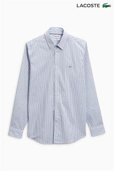 Lacoste® Grey/White Fine Stripe Shirt