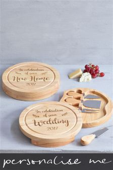 Wooden Personalised Cheeseboard Gift Set By Loveabode