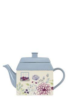 Peony Hand Painted Teapot