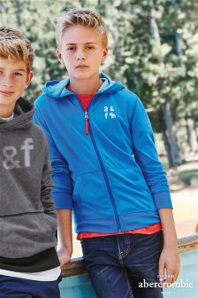 Blue Abercrombie & Fitch Zip Through Hoody