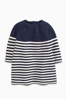 Knitted Stripe Dress (0mths-2yrs)