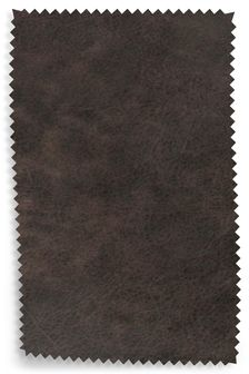 Antiqued Leather Charcoal Upholstery Fabric Sample