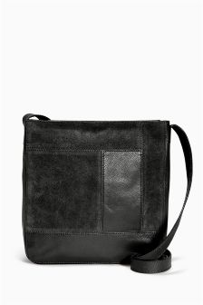 Leather Messenger Across-The-Body Bag