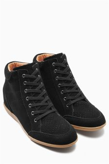 Suede Wedge High Tops