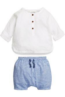 Linen Mix Shorts Set (0mths-2yrs)