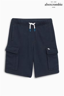 Navy Abercrombie & Fitch Fleece Pocket Short