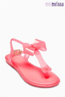 Kids Mel Dreamed By Melissa Pink Bow Sandal