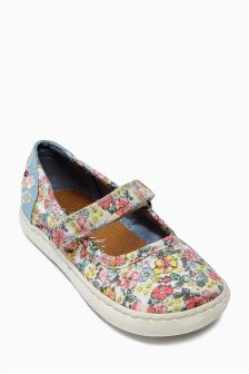 Pink Floral Mary Jane Pumps (Younger Girls)