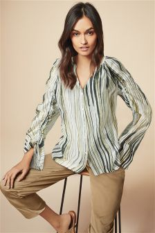 Ruched Sleeve Soft Shirt