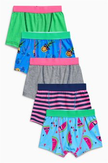 Fluro Trunks Five Pack (2-16yrs)