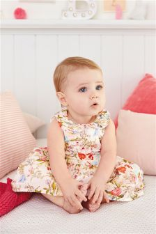 Multi Floral Prom Dress And Matching Knicker Set (0mths-2yrs)