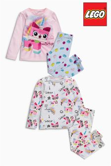 Pink And Cream Lego™ Unicorn Pyjamas Two Pack (4-10yrs)