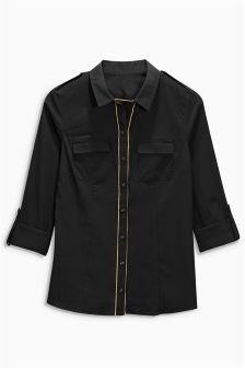 Black Military Shirt