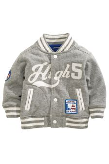 Grey Letterman Jacket (3mths-6yrs)