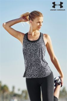 Black Under Armour Fly By Print Tank