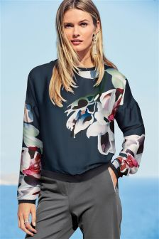 Floral Sweat Top