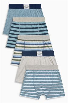 Blue Stripe Trunks Five Pack (2-16yrs)