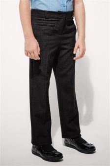 Smart Zip Detail Trousers (3-16yrs)