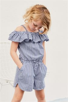 Stripe Ruffle Playsuit (3-16yrs)