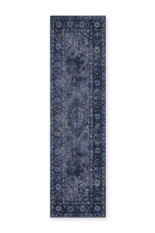 Deep Blue Oriental Runner
