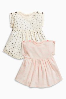 Jersey Dresses Two Pack (0mths-2yrs)