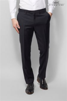 Signature Italian Wool Sharkskin Suit: Trousers