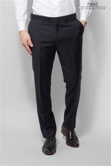 Italian Wool Sharkskin Suit: Trousers