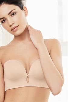 Push Up Plunge Strapless Bra